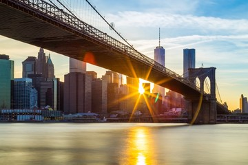 Printed kitchen splashbacks Brooklyn Bridge brooklyn bridge in new york city