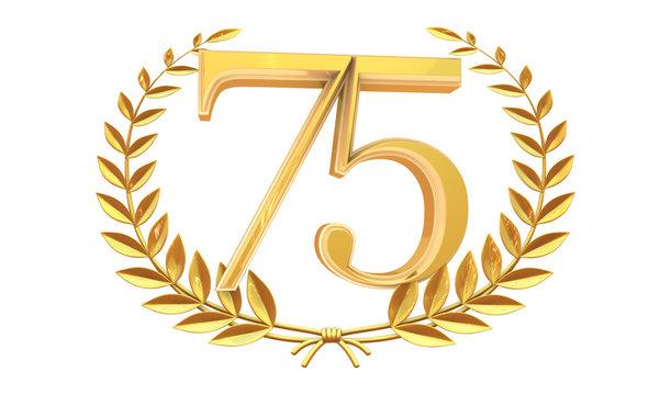75 3D  years anniversary celebration logotype with elegant celebration 3d.
