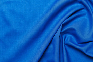 Blue fabric cloth texture. abstract texture background with soft waves. Fotomurales