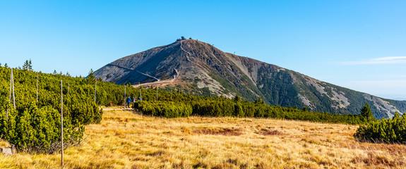 Snezka - the highest mountain of Czech Republic. Krkonose National Park, Giant Mountains