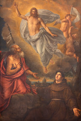 Wall Mural - RAVENNA, ITALY - JANUARY 28, 2020: The painting of  Resurected Jesus with the saint Anthony and James the Apostle in Duomo (cathedral) by Jean-Baptiste Wicar (1762 - 1834).
