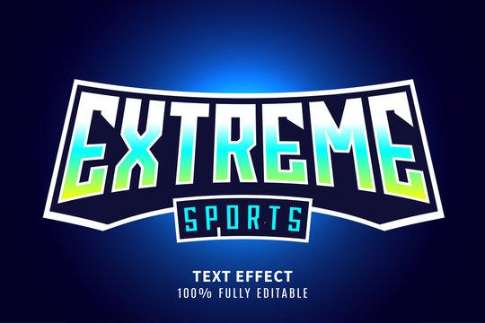 Sport text effect, editable text