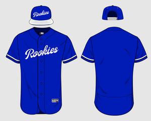 Baseball jersey uniform template mockup vector