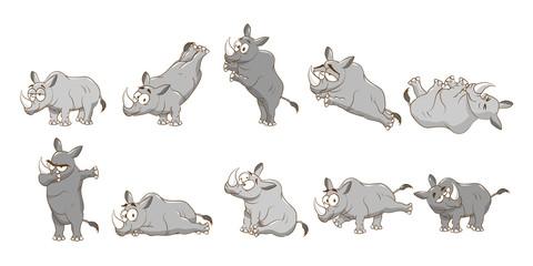 rhinoceros vector set collection graphic clipart design