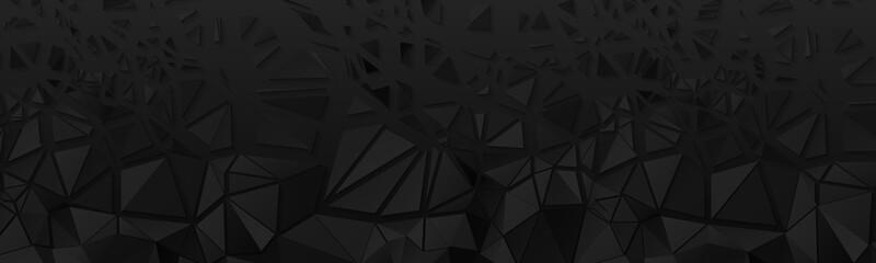 Obraz Shattered Broken Black Polygonal Banner Background - fototapety do salonu