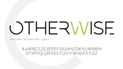 Contemporary geometric uppercase letter set, vector alphabet, typography