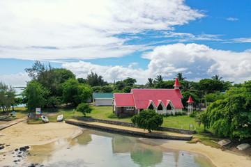 Wall Mural - Die Kirche von Cap Malheureux auf Mauritius