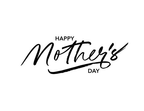 Happy mother day ink pen vector lettering. Parent congratulations handwritten calligraphy.
