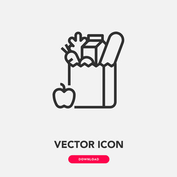 grocery icon vector. grocery icon vector symbol illustration. Modern simple vector icon for your design. grocery icon vector