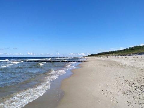 Międzywodzie, Dziwnów, woda, morze, Bałtyk, plaża, wydmy