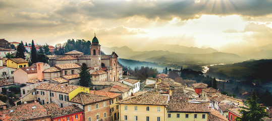 italy web banner horizontal background emilia romagna region Rimini province local landmarks Fotomurales