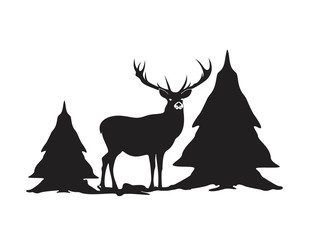 Deer logo design vector illustration