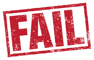 Fail Stamp. Vector Grungy Stamp.
