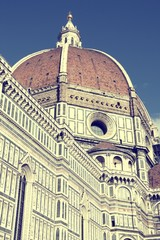 Wall Mural - Florence Cathedral. Vintage style filtered colors.