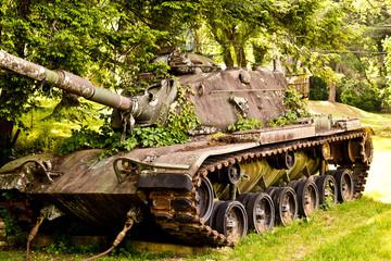 Abandoned American military tank