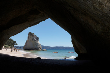 Printed roller blinds Cathedral Cove Coromandel New Zealand Cathedral Cove Hahei. Coast. Rocks and cave. Beach
