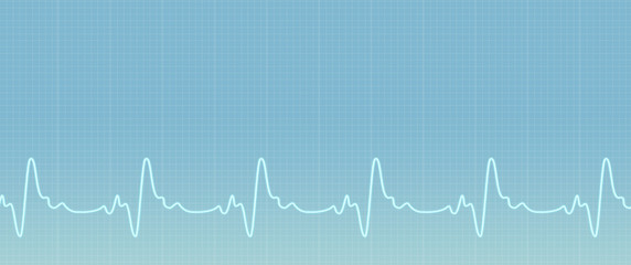 Green background with ecg line. Illustration of the ekg waves activity. Medical web sites with copy space. Health care banner.