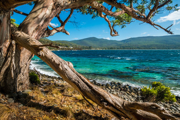 Turqoise water Bruny Island Tasmania Australia