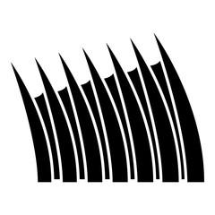Sharp dorsal fin icon black color vector illustration flat style image