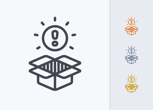 Unboxed Exclamation Mark - Pastel Stroke Icons