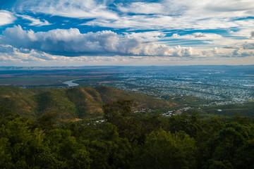 Panorama overview Rockhampton tropical Australia