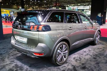 Peugeot 5008 GT SUV car showcased at the Paris Motor Show. PARIS - OCT 2, 2018.