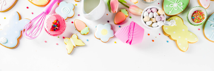 Sweet Easter baking background