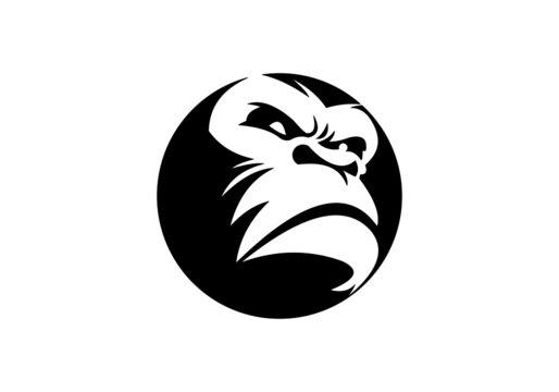 black, gorilla, gorilla logo,strong, monkey,strong,