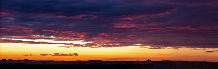 Sunset timelapse clouds colorful and building photo 5 Fotomurales