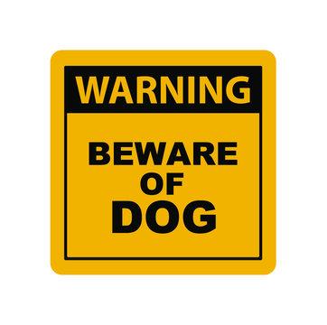 beware of dog icon