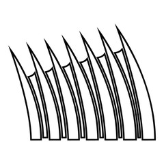 Sharp dorsal fin icon outline black color vector illustration flat style image