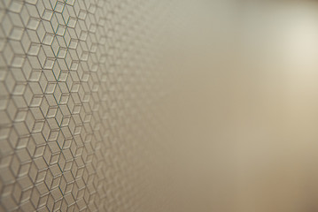 Background with simple mosaic engraving of straight lines, gradient blur and illuminated in a...
