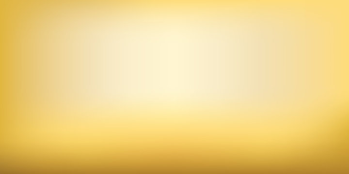 Blurred golden mesh background. Gold colors gradient. Smooth blend blank banner template. Easy editable soft colored vector illustration in EPS8 without transparency.