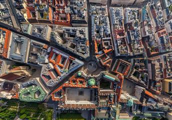 Aerial view of Michaelerplatz, Vienna, Austria