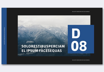 Dark Pitch Deck with Blue Accents