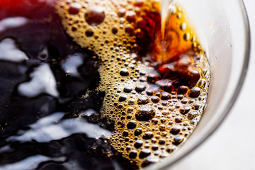 Close up of instant coffee in cup
