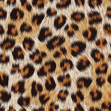 Leopard skin print. Vector seamless pattern