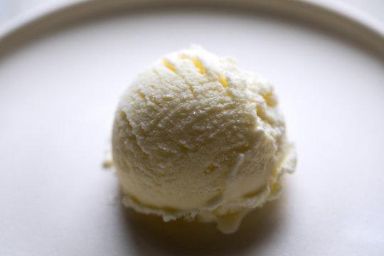 Close up view of vanilla yogurt ice cream