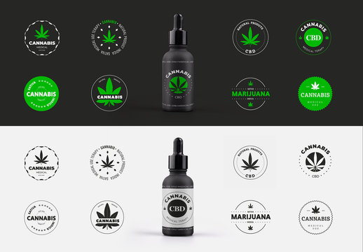Round Medical Cannabis Logos