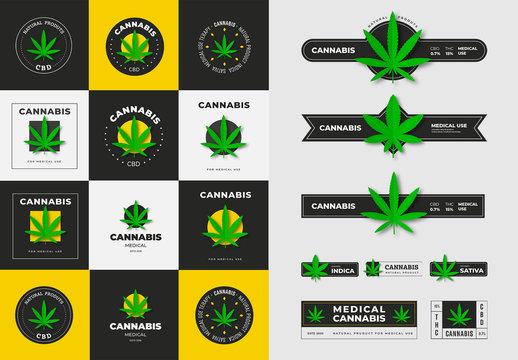 Medical Cannabis Labels and Logos