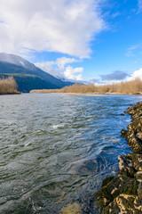 Fototapete - Beautiful Mountain River in Canada.