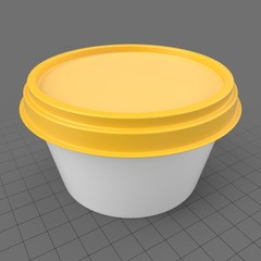 Round margarine packaging