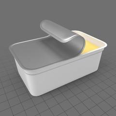 Open margarine package