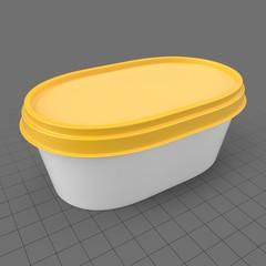 Oval margarine packaging