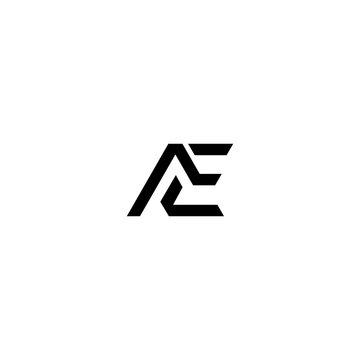 AE A E Logo Design Vector Template