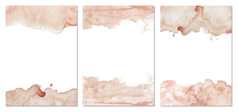 Watercolor blush pink abstract background. Vector texture