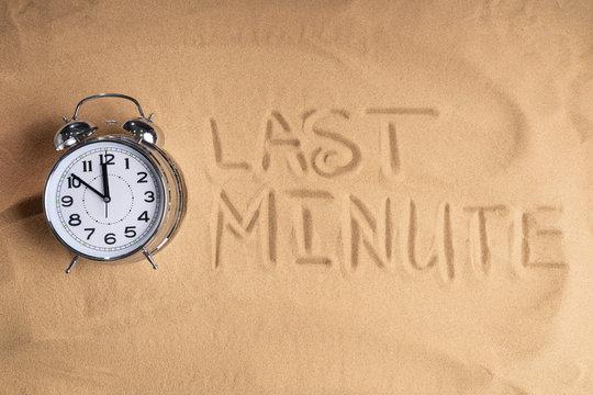 Last Minute Alarm Clock And On Beach