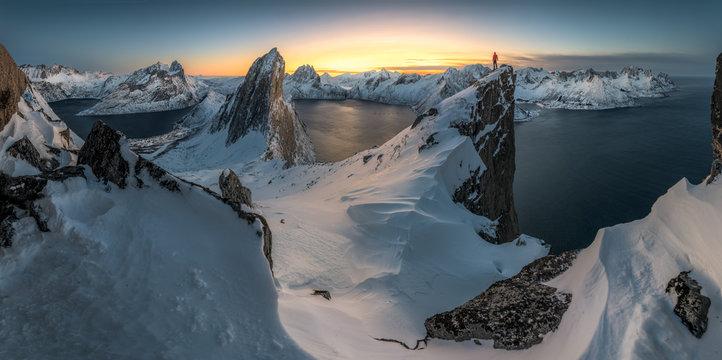 Mount Segla near Fjordgard at Senja, Norway