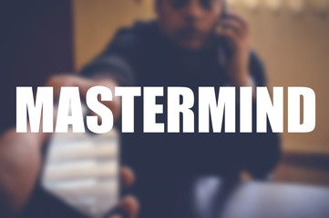 Mastermind word with blurring background