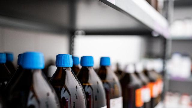 Magazyn chemiczny- laboratorium - przemysł kosmetyczny